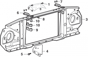 Radiator Grille and Components
