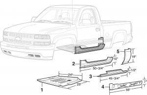 Steel Standard Cab Repair Panels