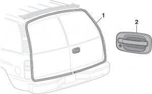 SUV Cargo Door Seals and Handle