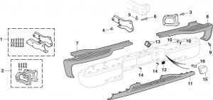 SUV Rear Bumper Components