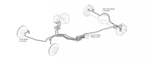 Pre-Bent Stainless Steel Brake Lines
