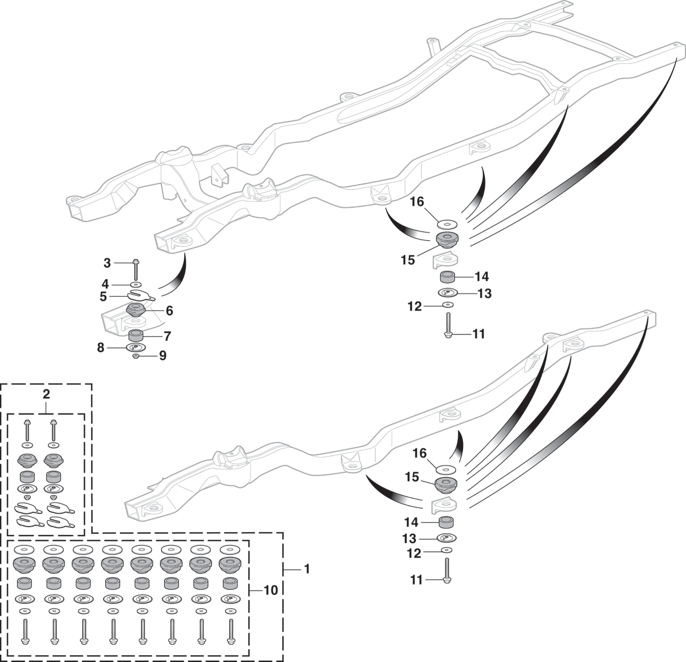 Body to Frame Mounting / Radiator Core Support