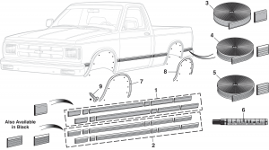 Pre-Cut Body Side Molding Sets, Side Molding and Wheel Arch Molding