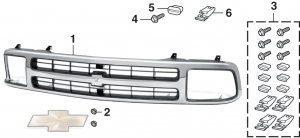 Grille and Components with Composite Headlights for Blazer