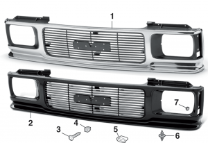 Grille and Components for GMC