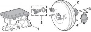 Brake Master Cylinder and Power Brake Booster