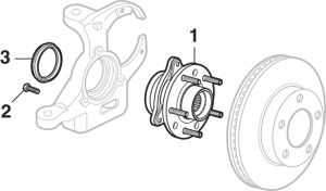 Front Wheel Bearing Assembly - 4WD
