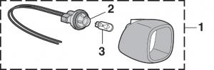 License Plate Lamp - Fleetside