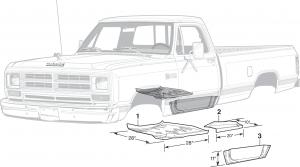 Cab Floor Steel Body Parts