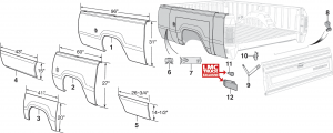 Sweptline Bed and Tailgate Components
