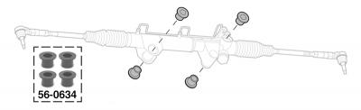 Polyurethane Rack and Pinion Bushing Set