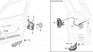 Door Handle and Latch Components