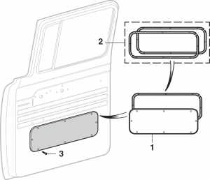 Door Inspection Plate and Components