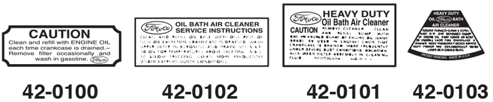 Air Cleaner Decals