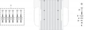 Stepside Bed to Frame Bolt Kit