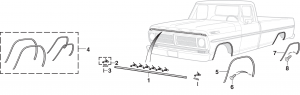 Hood Molding and Wheel Arch Molding