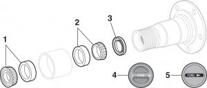 Front Wheel Bearings - 4 Wheel Drive