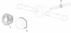 Rear Differential Components Dana 60 - 10 Bolt with 9-3/4