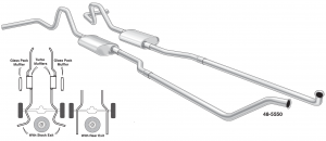 Complete High Performance Dual Exhaust Systems with Bolt-On Convenience
