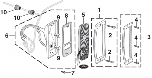 Styleside Tail Light Components