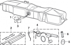 Side-Mount Gas Tank and Components