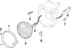 Round Headlight and Components