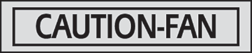 Caution Fan Decals