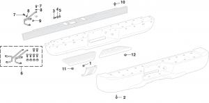 Denali Rear Bumper Components