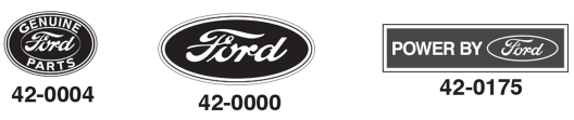 Ford Oval Decals