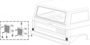 Rear Body Reflector - Red