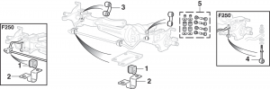 Front Sway Bar Components - 4 Wheel Drive