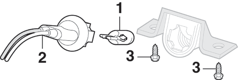 Stepside Rear License Lamp Components