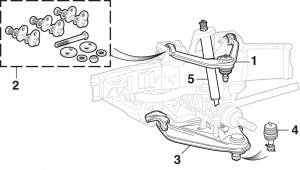 Front Suspension - With Torsion Bar