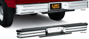 Chrome Rear Step Bumper ... Style and Utility All in One
