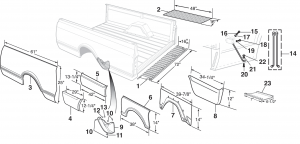 Fleetside Bed Patch Panels
