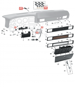 1973-80 Dashboard Components