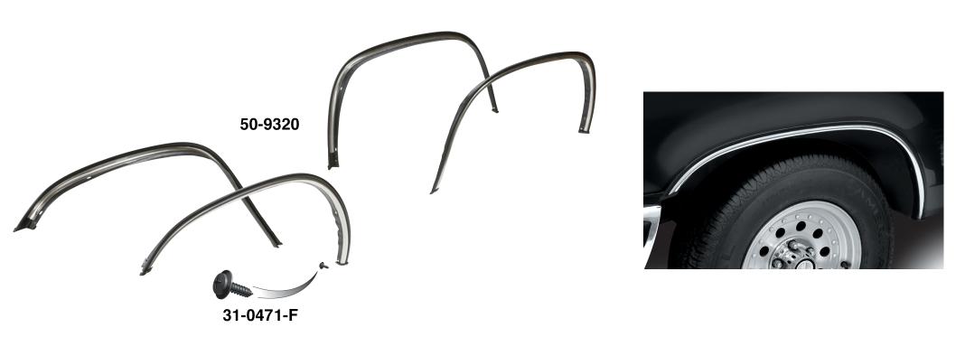 OE Style Wheel Arch Molding Kit