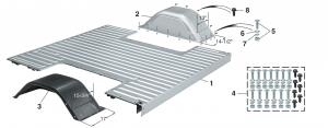 Fleetside Wide Wheel Bed Floor & Wide Wheel Housings