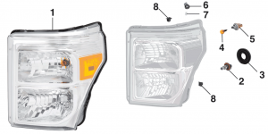2011-15 Combination Headlight Assembly