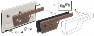 1972 Cheyenne and Sierra Door Panel Components