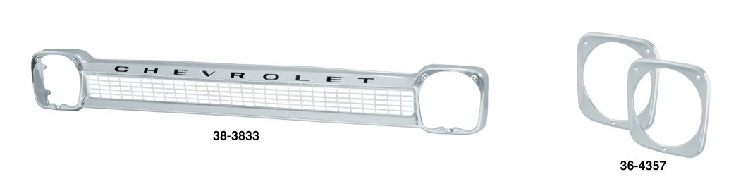 Aluminum Grille & Headlight Bezels