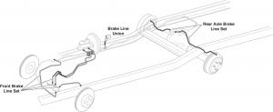 Pre-Bent Original Material Brake Lines