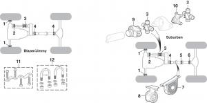 U-Joints - 4 Wheel Drive - 1/2 Ton