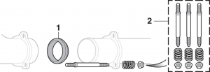 Exhaust Pipe Gasket and Exhaust Flange Spring Bolt Kit