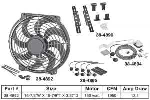 Electric Cooling Fan Kit Keeps Your Engine Cool