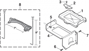 Auxiliary Battery Tray