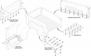 1973-87 Stepside Master Bed Kits … Everything You Need for Bed Attachment