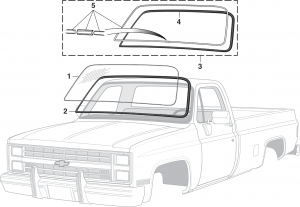 1973-91 Windshield and Seal