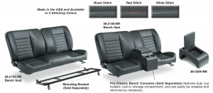 Pro Classic Sport Front Split Bench Seat & Center Console
