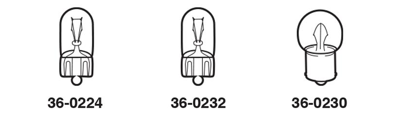 1973-91 Instrument Panel Bulbs